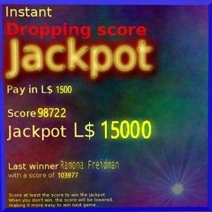 A dropping Score Jackpot