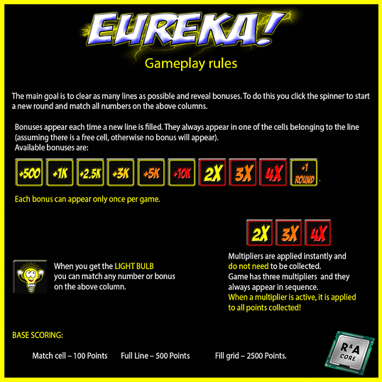 Eureka game rules