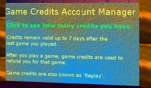 Game Credits Account Manager
