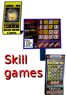 Examples of a few SL game machines